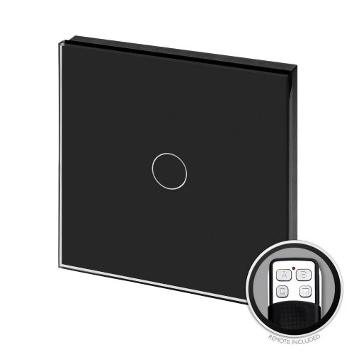RetroTouch Touch & Remote LED Dimmer Switch 1 Gang 1 Way Black Glass PG 00431